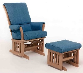 Dutailier model 11950 - natural finish on maple - denim  sc 1 st  Rocking Chairs & Contemporary Multiposition Glider (Dutailier 11958)
