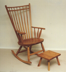 Birdcage Rocker - light honey finish on oak