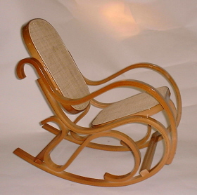Childu0027s Bentwood Rocking Chair   Honey Oak Finish