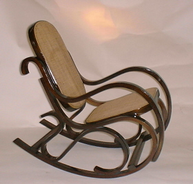 Childu0027s Bentwood Rocking Chair   Walnut Finish